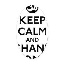 Keep Calm Chant Om Oval Car Magnet