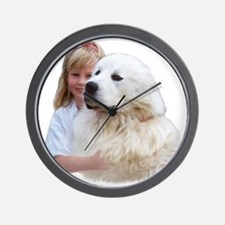 Great Pyrenees Wall Clock - Hugging Time