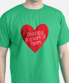 Red Teacher Heart T-Shirt