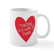 Red Teacher Heart Mug