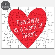 Red Teacher Heart Puzzle