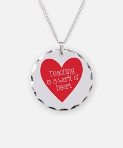 Red Teacher Heart Necklace