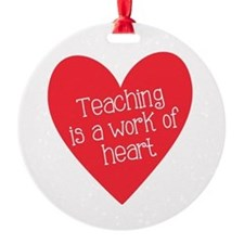 Red Teacher Heart Ornament