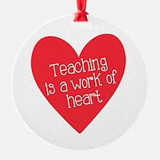 Red Teacher Heart Ornament