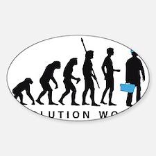 Evolution Klempner B 2c Sticker (Oval)