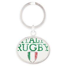 Italian rugby Designs Oval Keychain