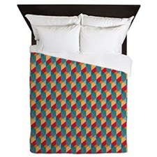 Optical Steps Bold Queen Duvet