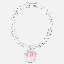 VIH initials, Pink Ribbo Bracelet