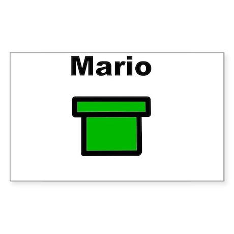 Mario Rectangle Sticker