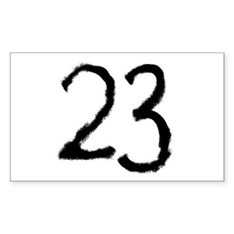23 Rectangle Sticker