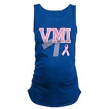 VMI initials, Pink Ribbon, Maternity Tank Top
