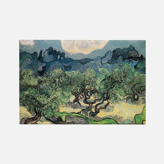 Olive Trees - Van Gogh - c1889 Magnets