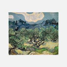 Olive Trees - Van Gogh - c1889 Throw Blanket