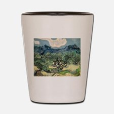 Olive Trees - Van Gogh - c1889 Shot Glass