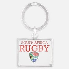 south Africa rugby Landscape Keychain