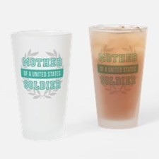 Mother of a United States Soldier Drinking Glass