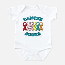 Cancer Sucks Blue Letters Infant Bodysuit