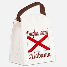 Dauphin Island Alabama Canvas Lunch Bag