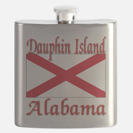 Dauphin Island Alabama Flask