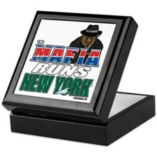 The Mafia Runs NY - wide Keepsake Box