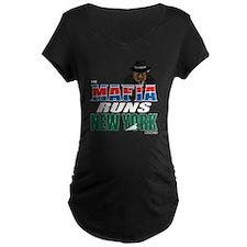 The Mafia Runs NY - wide T-Shirt
