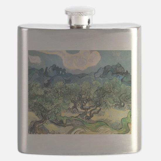 Olive Trees - Van Gogh - c1889 Flask
