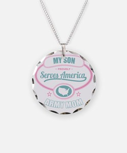 My Son Proudly Serves Americ Necklace