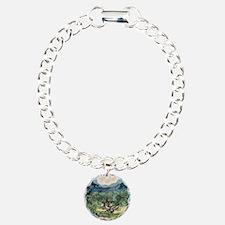 Olive Trees - Van Gogh - c1889 Charm Bracelet, One