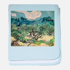 Olive Trees - Van Gogh - c1889 baby blanket