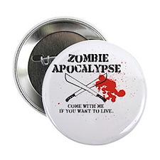 """Zombie Apocalypse 2.25"""" Button"""