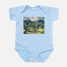 Olive Trees - Van Gogh - c1889 Baby Light Bodysuit