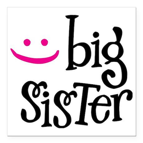 """Big Sister Square Car Magnet 3"""" x 3"""""""