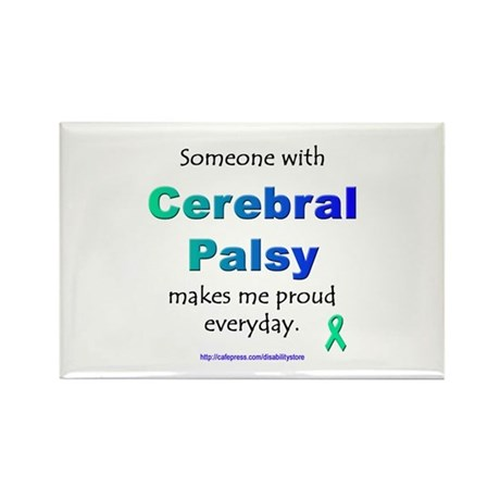 """Cerebral Palsy Pride"" Rectangle Magnet"