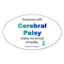 """Cerebral Palsy Pride"" Oval Decal"