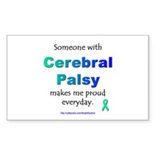 """Cerebral Palsy Pride"" Rectangle Decal"