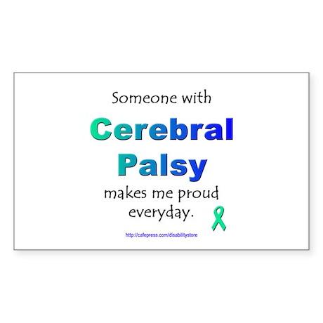 """Cerebral Palsy Pride"" Rectangle Sticker"