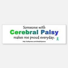 """Cerebral Palsy Pride"" Bumper Car Car Sticker"