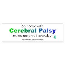 """""""Cerebral Palsy Pride"""" Bumper Car Sticker"""