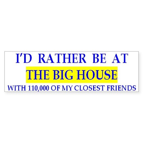 Michigan Big House Bumper Sticker