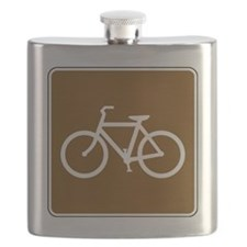 Bike Trail Sign Flask