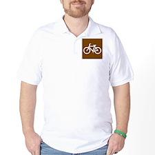 Bike Trail Sign T-Shirt