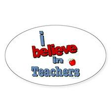 ... teachers Oval Decal