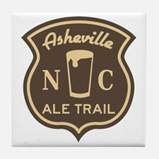 Asheville Ale Trail Logo Tile Coaster