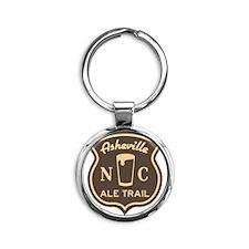 Asheville Ale Trail Logo Round Keychain