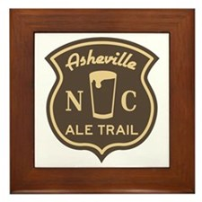 Asheville Ale Trail Logo Framed Tile