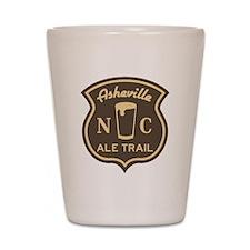 Asheville Ale Trail Logo Shot Glass