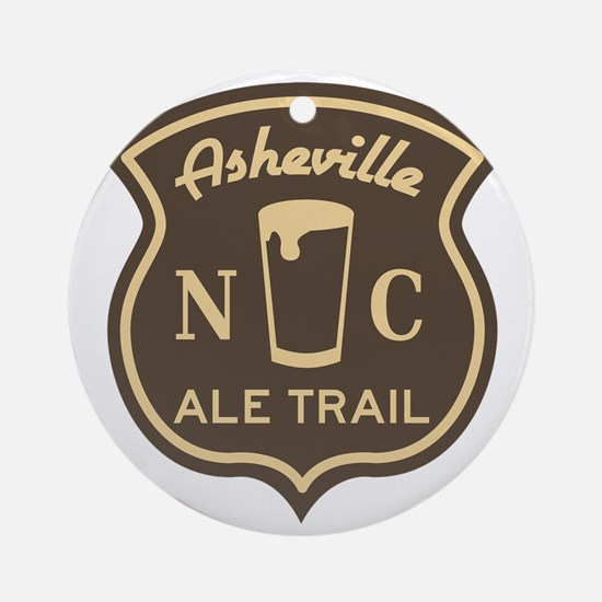 Asheville Ale Trail Logo Round Ornament