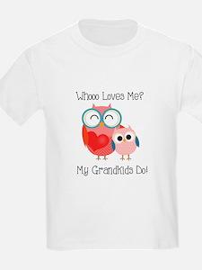 Owl Grandkids T-Shirt