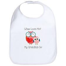 Owl Grandkids Bib