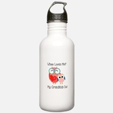 Owl Grandkids Water Bottle